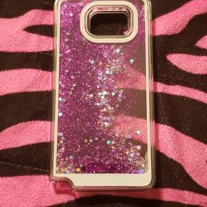 Galaxy Note 5 case purple glitter